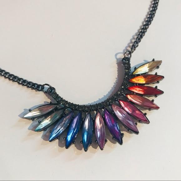H&M Rainbow Gem Necklace